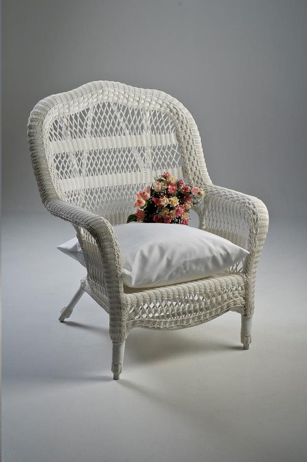 Where To Find Wicker Chair, White Large In Allentown