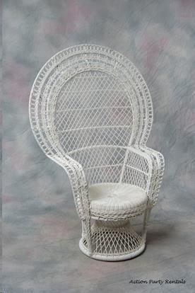 Where to find Wicker Chair, White Hi Back in Allentown