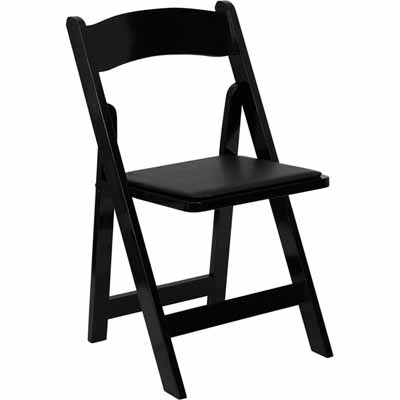 Where to find Chair Folding Padded Black Resin in Allentown