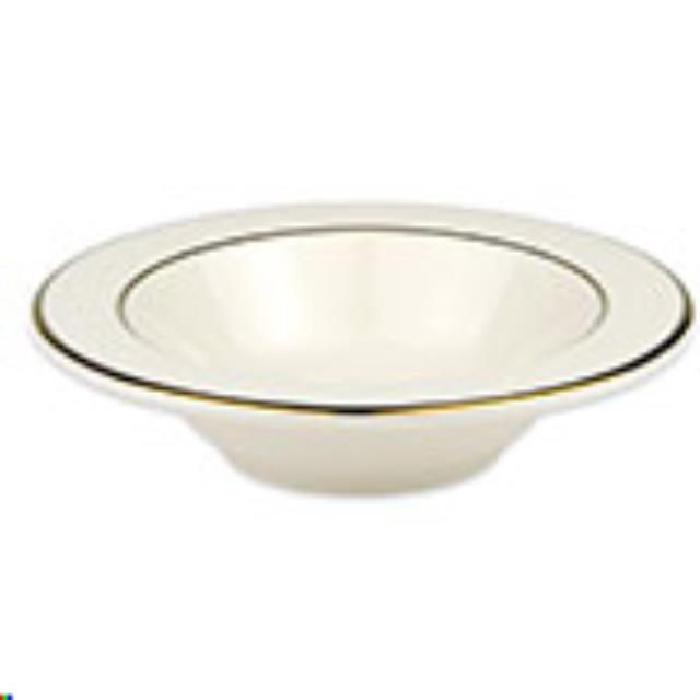 Where to find Ivory w  Gold Soup Bowl with Rim in Allentown
