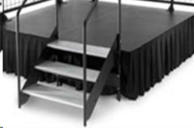 Where to find Stage Skirt, Black 21 Longx40  hi Poly in Allentown