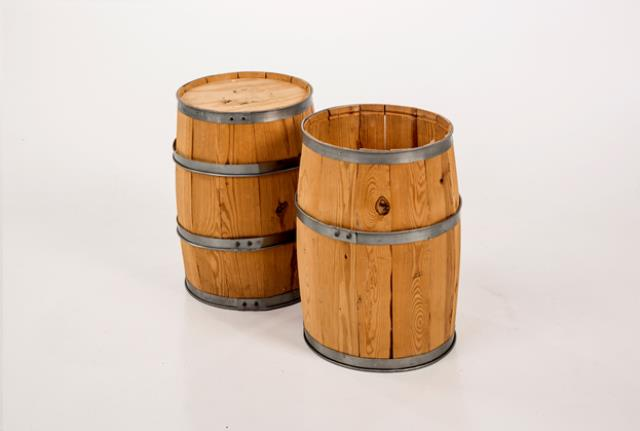Where to find Wooden Barrels Setof2 Small  18 Hix12 d in Allentown