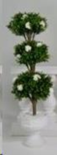 Rental store for Tree Topiary 5  w  White Flowers in Allentown PA