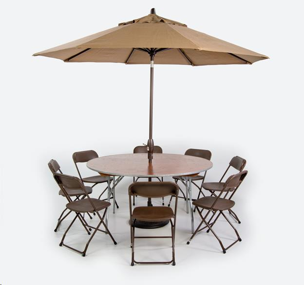 Where to find Umbrella Kit  w  4  or 5  Table in Allentown