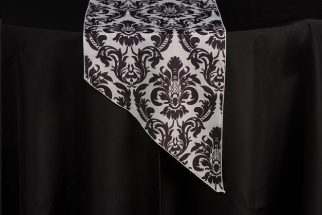 Where to find Runner Black White Damask 12  x 108  Tap in Allentown