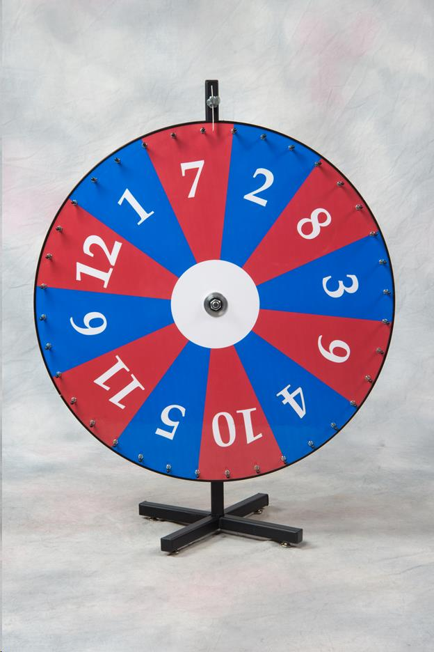 Where to find Wheel of Fortune Wheel, 1-12 36  Red Blu in Allentown