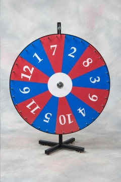 Rental store for Prize Wheel 1-12 Red   Blue 36 in Allentown PA