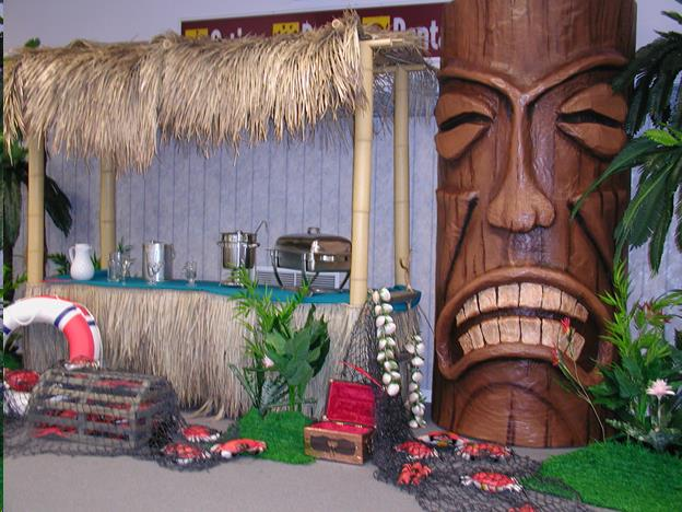 Where to find Tropical Prop with Grass Hut Bar Theme in Allentown