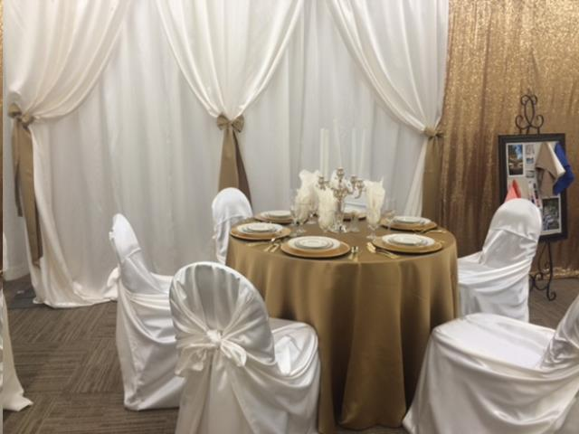 Where to find 10  Hi x 14  Drape Ivory Satin Backdrop in Allentown