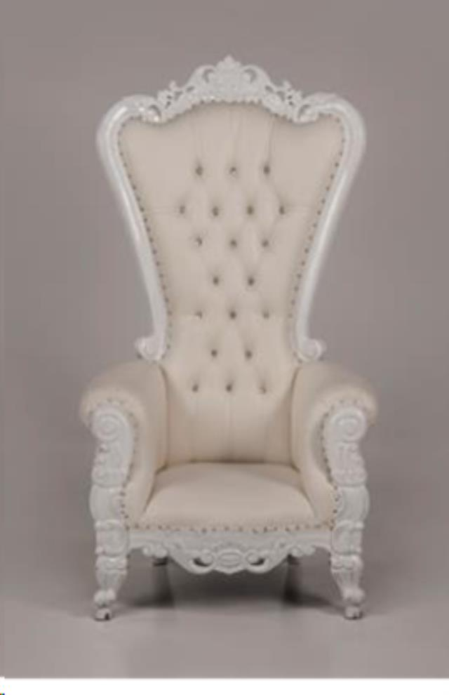Where To Find Throne Chair, White With White Trim In Allentown