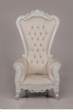 Rental store for Throne Chair, White w  White Trim - New in Allentown PA