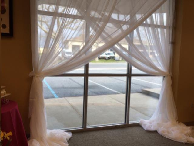 Where to find 10 H x 10 W White Sheer Drape Backdrop in Allentown