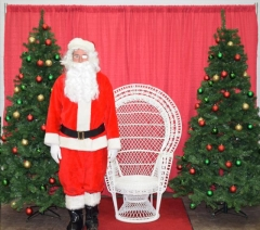 Rental store for zChristmas Santa Hi Wicker Chair in Allentown PA