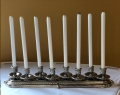 Rental store for Candelabra Table 8-Lite Silver w  Candle in Allentown PA