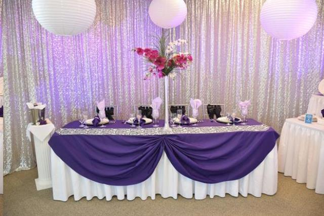 Where to find 10 H x 20 W Drape Sequin Silver Backdrop in Allentown