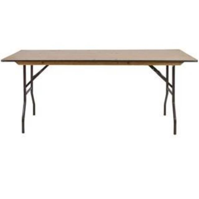 Where to find 6  Long USED Tables 6  x 30 in Allentown