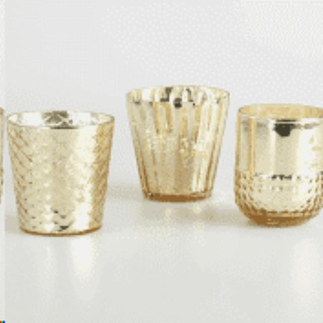 Where to find Votive, Tabletop Gold w wax Set of 3 in Allentown