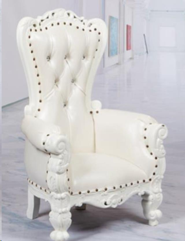 Where to find Throne Chair, White Mini for Kids in Allentown