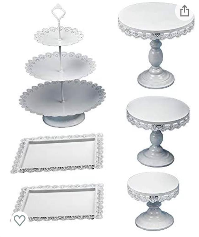 Where to find Stand Cake Set of 6, White in Allentown