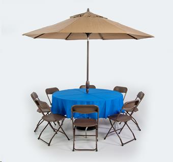 Rent Linen Umbrella Table